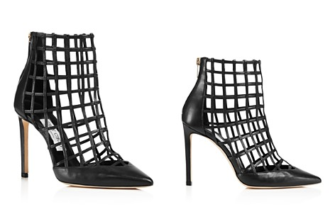 Jimmy Choo Women's Sheldon 100 Caged Leather High Heel Booties - Bloomingdale's_2
